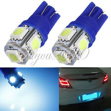 2x Ice Blue T10 5050 168 194 2825 W5W 5-SMD License Plate LED Light Bulb Lamp