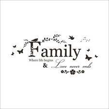 Family Quote Removable Wall Stickers Decal Art Vinyl Mural Home Room Decor