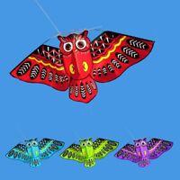 Single Line Animal Owl Flying Kite Outdoor Activity Sport Toy w/ 30m Kite String