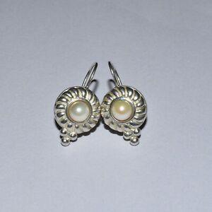 Judith Ripka Sterling Silver Pearl Earrings