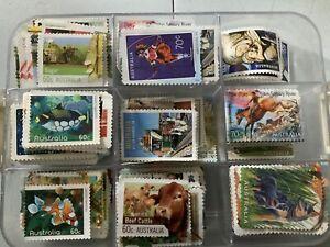 Unfranked Off Paper Australian Stamps $30 FV Mint