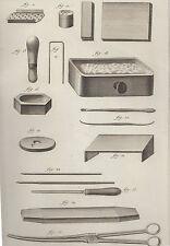 Diderot e D'Alambert, 1778, utensili dello smaltatore, acquaforte