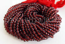 """12.5"""" strand MOZAMBIQUE GARNET faceted gem stone round beads 3.8mm red"""