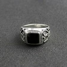 Diamond Eye Skull 925 Sterling Silver Ring Gothic Biker Harley Chopper Sz 10.25 Handsome Appearance Men's Jewelry