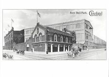 CLEVELAND BASEBALL LEAGUE PARK 8X10 PHOTO MLB PICTURE B/W WIDE BORDER