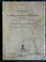 ANNALI DELLA R. SCUOLA NORMALE SUPERIORE DI PISA. Gentile, Breccia. Zanichelli.