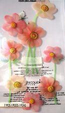 JOLEE'S BOUTIQUE LE GRANDE PINK FLOWERS Scrapbook Craft Sticker Embellishment