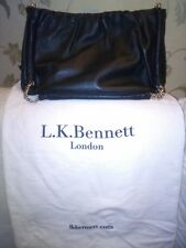 L.K. Bennett Black Leather shoulder bag with part - metal handles