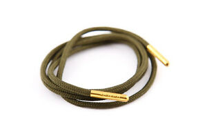 New Pair 75cm Round Dress Shoe Laces Baggy Green