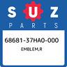 68681-37HA0-000 Suzuki Emblem,r 6868137HA0000, New Genuine OEM Part