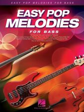 Easy Pop Melodies for Double Bass Instrumental Folio Book New 000125794