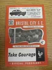 10/11/1962 Bristol City V Queens Park Rangers (piegato). condizione: elencati precedentemente
