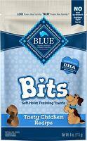 Blue Buffalo Blue Bits Tasty Chicken Recipe Soft-Moist Training Dog Treats 4 oz.