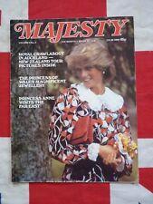 1983 Majesty Magazine, Princess Diana, Princess Anne, Royal Jewels