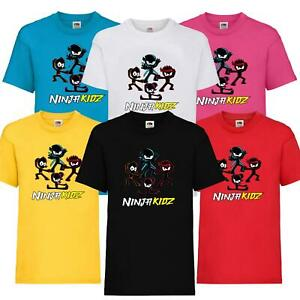 New Kids Childrens Ninja Kidz Tv Gaming T-Shirt Team Boys Girls Cool Fun Tee Top