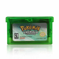 Emerald Version Advance Gameboy Cartridge Game Card for Pokemon NDSL GBA GBC SP