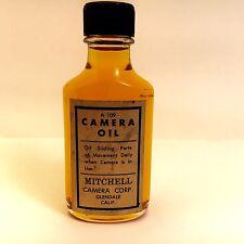 RARE * Mitchell Camera Oil *  Original Oil in Original Glass Bottle.