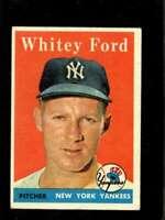1958 TOPPS #320 WHITEY FORD VGEX YANKEES HOF *SBA1267