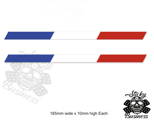 French Flag Stickers Stripe x2 Peugeot GTi Citroen Renault Alpine Styling Decals
