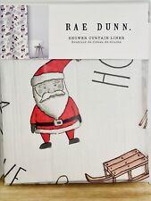 NWT! Rae Dunn Shower Curtain Christmas Santa Reindeer Sled 🎅🏻Mildew Resistant