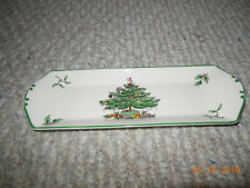 VINTAGE Made In England Spode Christmas Tree Mint Tray S3324-U NEW W/ PACKAGE !