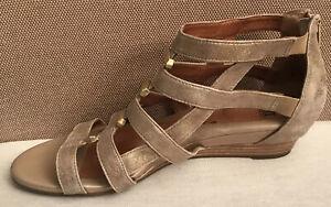 Sofft Rio Gladiator Leather Sandal Gold 10M