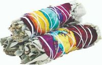 Rose Petals White Sage Smudge Sticks (Pack of 3), House Cleansing.