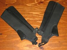Childrens Synthetic Faux Leather Half Chaps - Size Small - Black - New