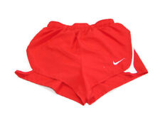 Nike Women's Size XS Red White Trim Dri-Fit Dash Lined 3 Inch Running Shorts