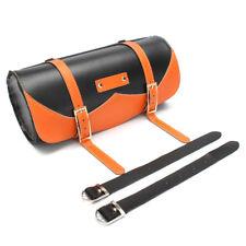 Motorcycle Side Saddle Bag PU Leather Round Saddle Tool Bag Universal