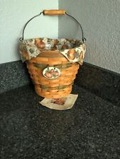 longaberger Autumn Pail Green Basket Combo