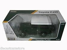 MOTORMAX  TOYOTA FJ40 FJ 40 LAND CRUISER 1/24 DIECAST MODEL CAR GREEN 79323