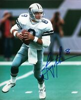 Troy Aikman Cowboys HOF Signed Autographed 8 x 10 Photo REPRINT ,