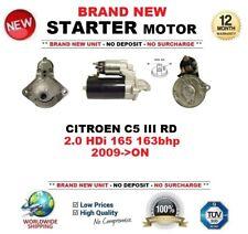 FOR CITROEN C5 III RD 2.0 HDi 165 163bhp 2009-ON NEW STARTER MOTOR 1.8kW 9Teeth