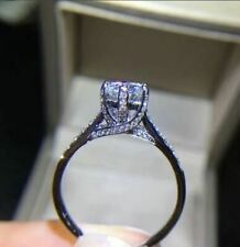 Solitaire Engagement Ring Classic 1.4Ct Wedding Diamond Ring 14k White Gold Over