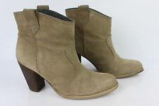 Bottines Boots ANDRE Daim Beige Sable T 40 BE