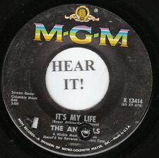 The Animals BRIT 45 (MGM 13414) It's My Life/I'm Going to Change the World