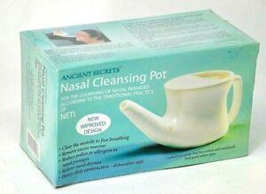 White Ceramic Nasal Cleansing Neti Pot Ancient Secrets