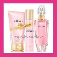 Super lote nuevo perfume Avon DREAMS+wd vaporizador+loción hidratante perfumada