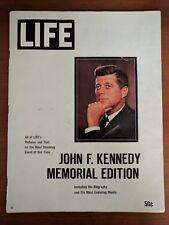 1963 LIFE magazine John F Kennedy JFK Memorial edition ORIGINAL MAILER