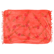 Sarong, Pareo, Wrap - coral painted flowers - handmade in Bali - Hary Dary