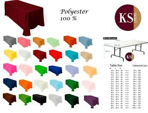 """84"""" x 108""""  Tablecloth ideal for 4 feet x 24 inch rectangular table"""