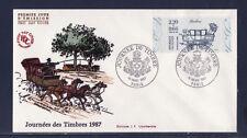 enveloppe 1er jour   journée du timbre   Paris      1987