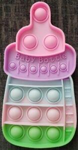 Baby Bottle Push it Bubble Pop Fidget Sensory Toy ADHD Stress Reliever Gift Toys