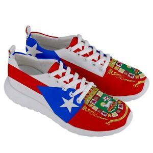 New Puerto Rico Flag Coat of Arms flag Men's Athletic Sports Running Shoes
