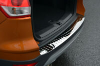 To Fit Ford Kuga (2013+): Rear Bumper Protector Scratch Guard Black Chrome