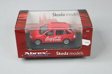 ZC945 Abrex 143ABX004XH Miniature Voiture 1/43 Skoda Fabia SW Coca Cola Pub
