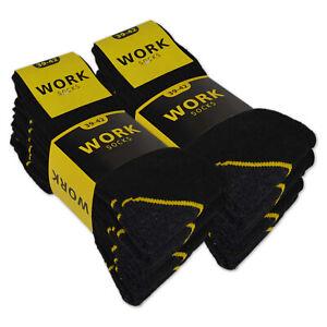 10 | 20 Paar Arbeitssocken WORK Herrensocken Baumwolle Schwarz