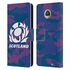 OFFICIAL SCOTLAND RUGBY LOGO 2 LEATHER BOOK WALLET CASE FOR MOTOROLA PHONES