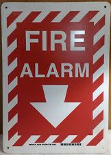 Brady 25708 Fire Alarm Sign, Plastic,  14x10 Inch